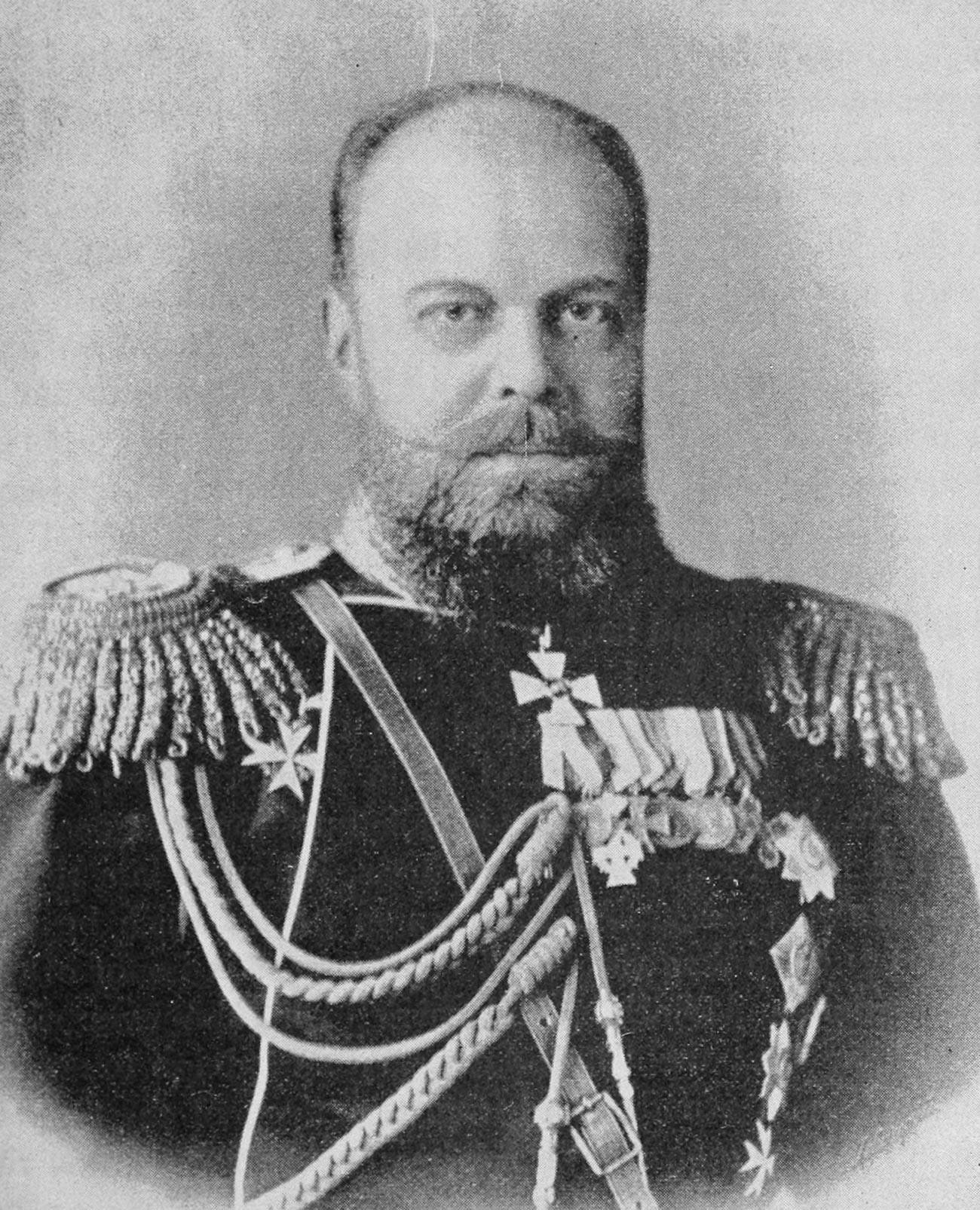 The Czar of Russia (Alexander III of Russia).