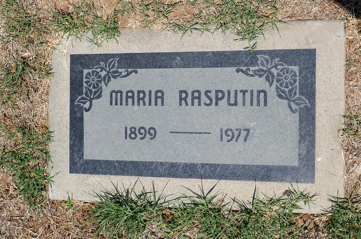 Túmulo de Maria em Los Angeles, Califórnia.