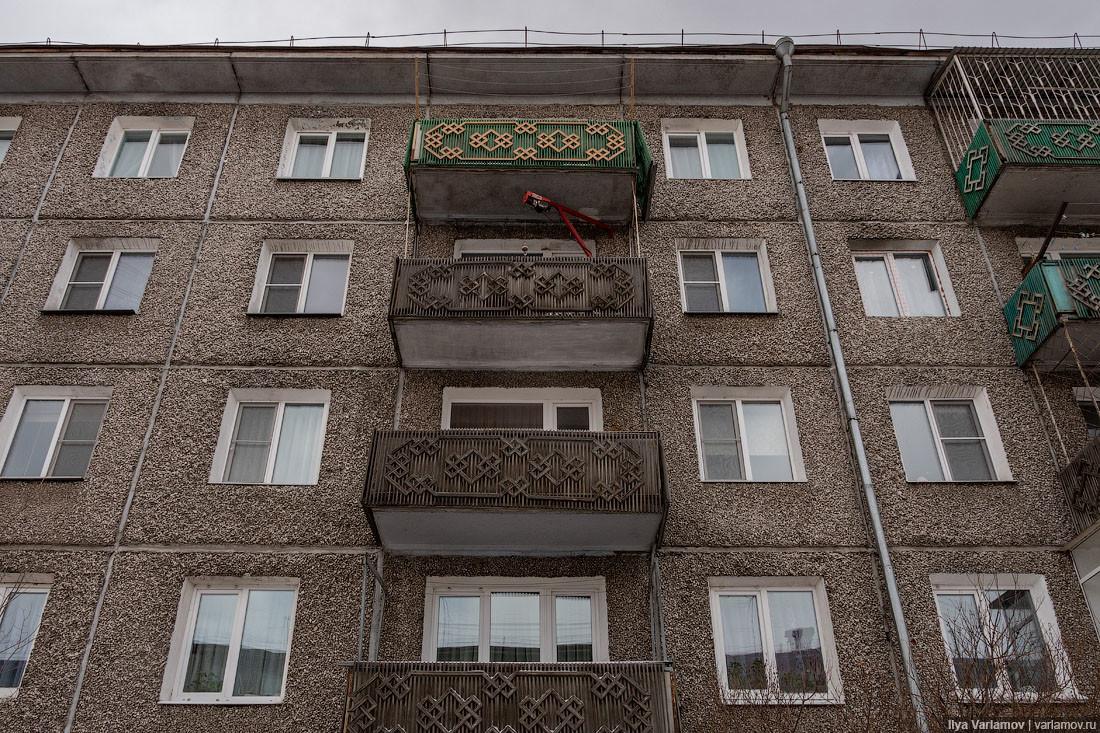 Un edificio a pannelli in Buriatia
