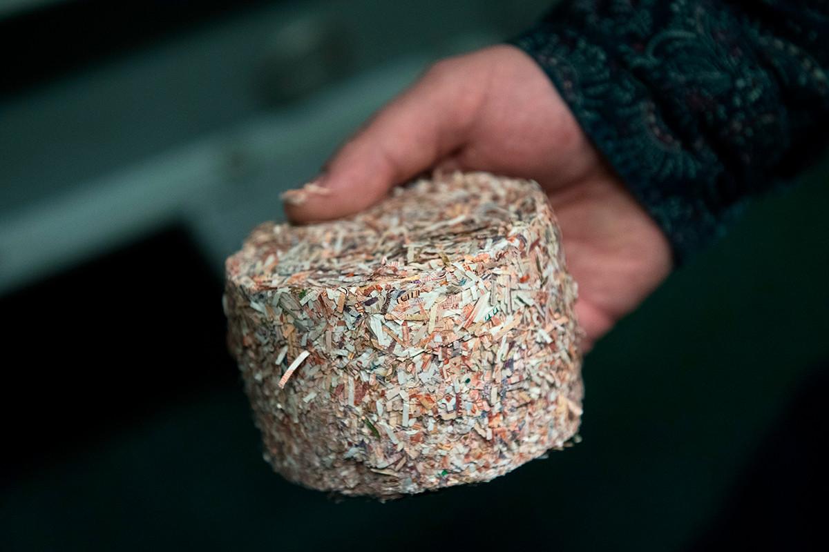 The briquettes of money chip scrap.