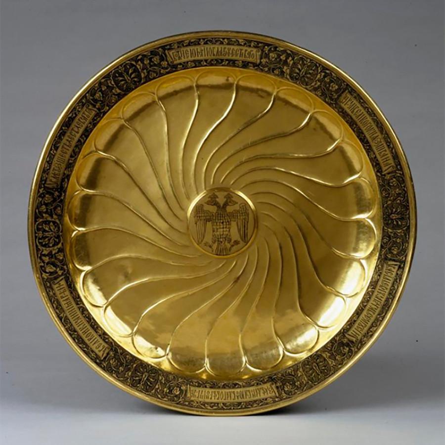 大皿、イワン雷帝から皇妃マリア・テムリュコヴナへの贈り物、1561年