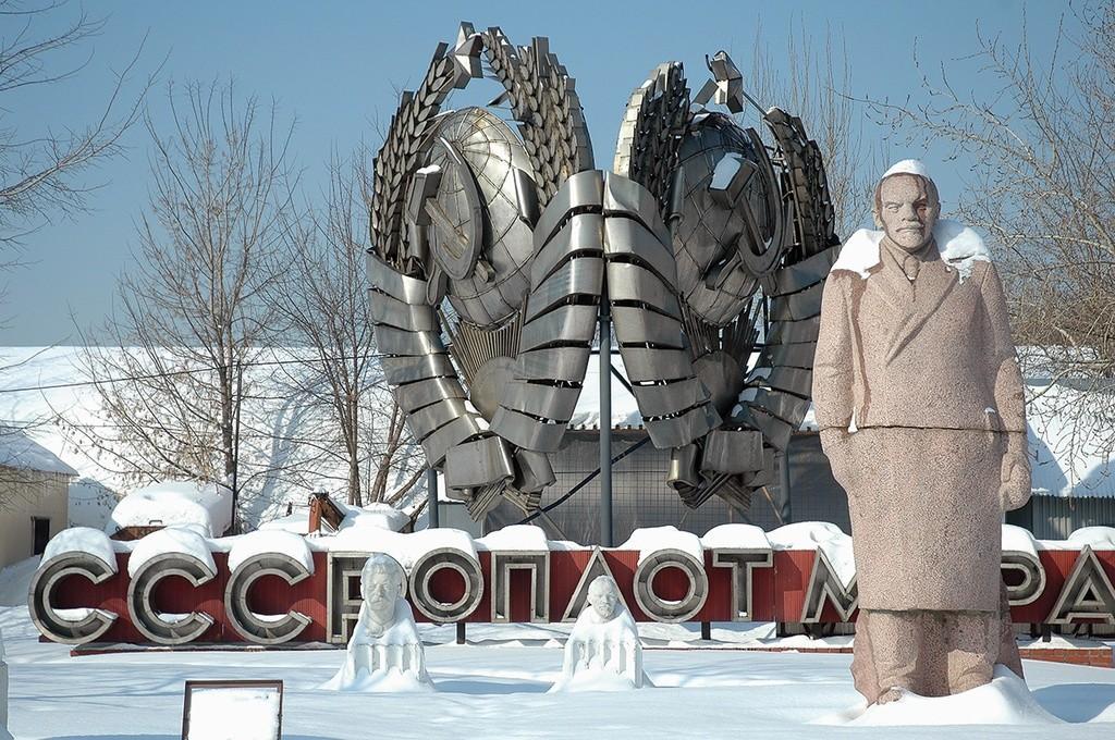 モスクワ、ムゼオン公園の「記念碑の墓場」