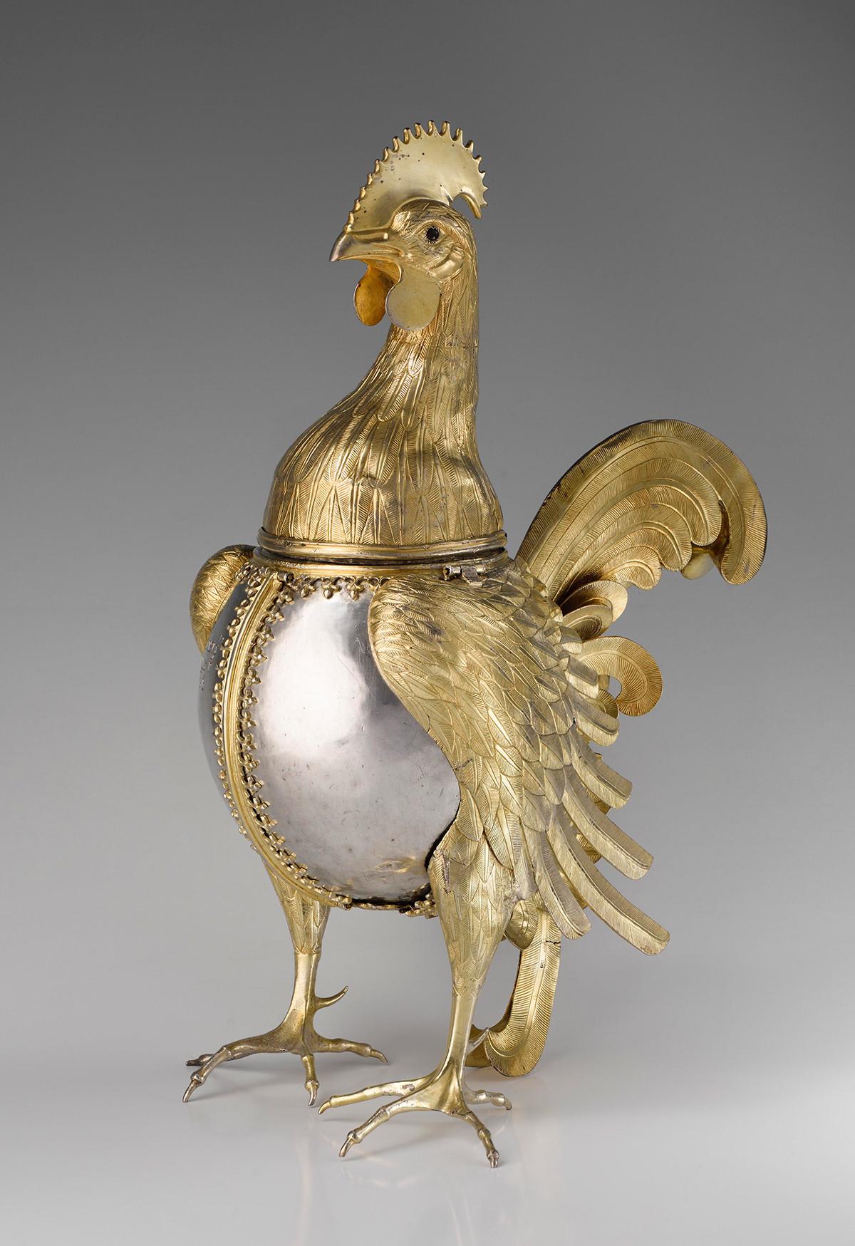 Gobelet-coq, fin du XVe - premier tiers du XVIe siècle. Appartenait au tsar Ivan le Terrible