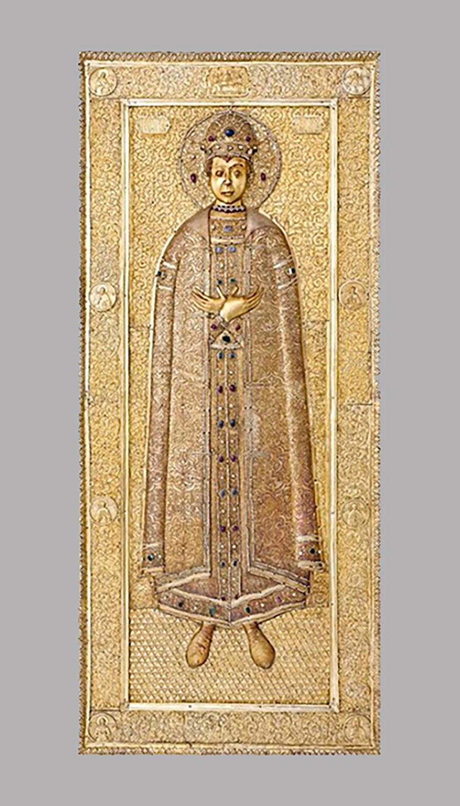 Couvercle de la châsse de saint Dmitri d'Ouglitch, 1628-1630