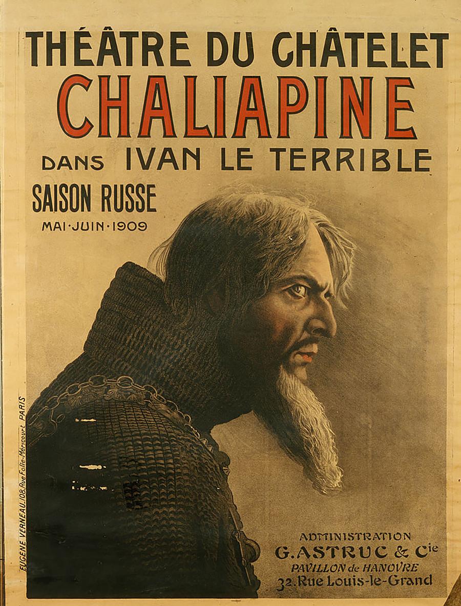 Plakat für die Saison Russe im Théâtre du Châtelet, 1909.
