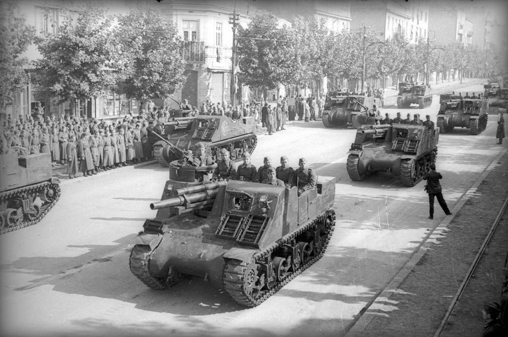 市街地の戦車