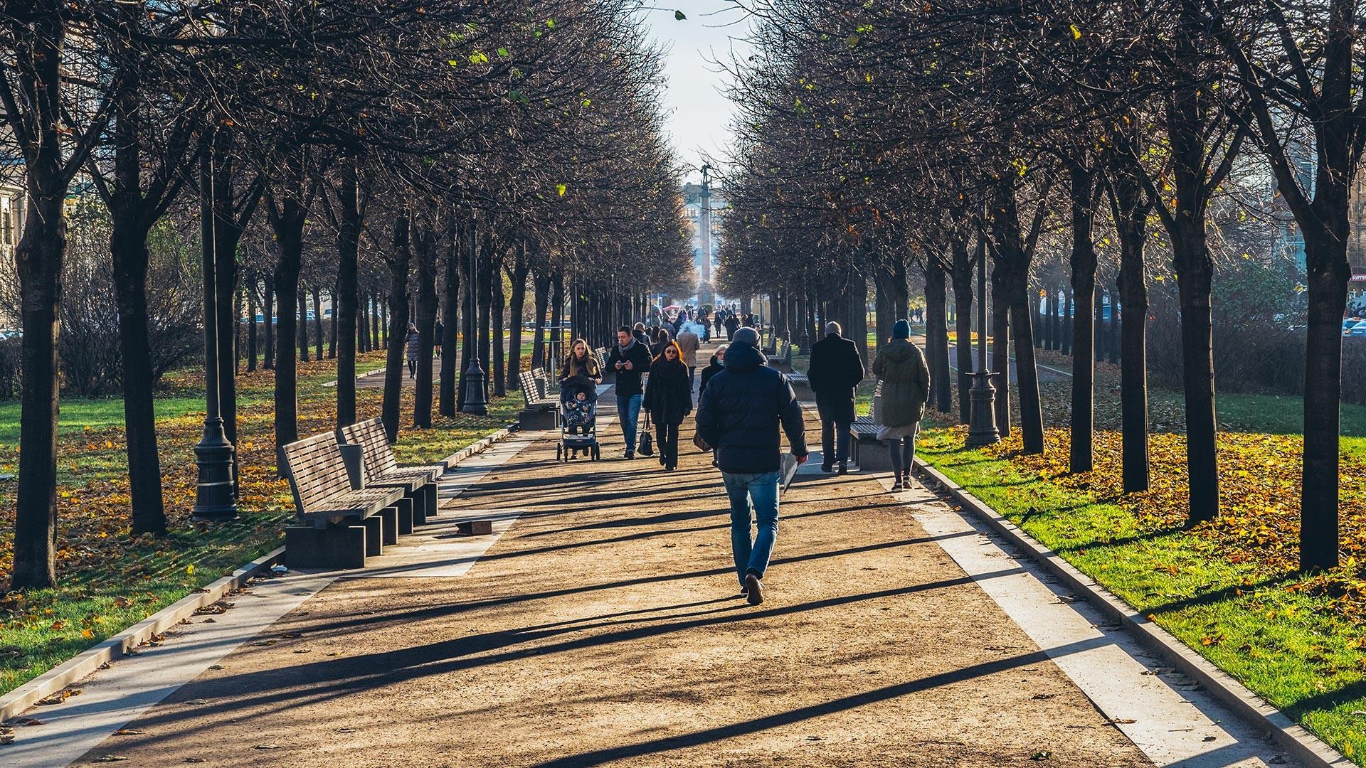 Russia, Moscow. Tsvetnoy Boulevard.