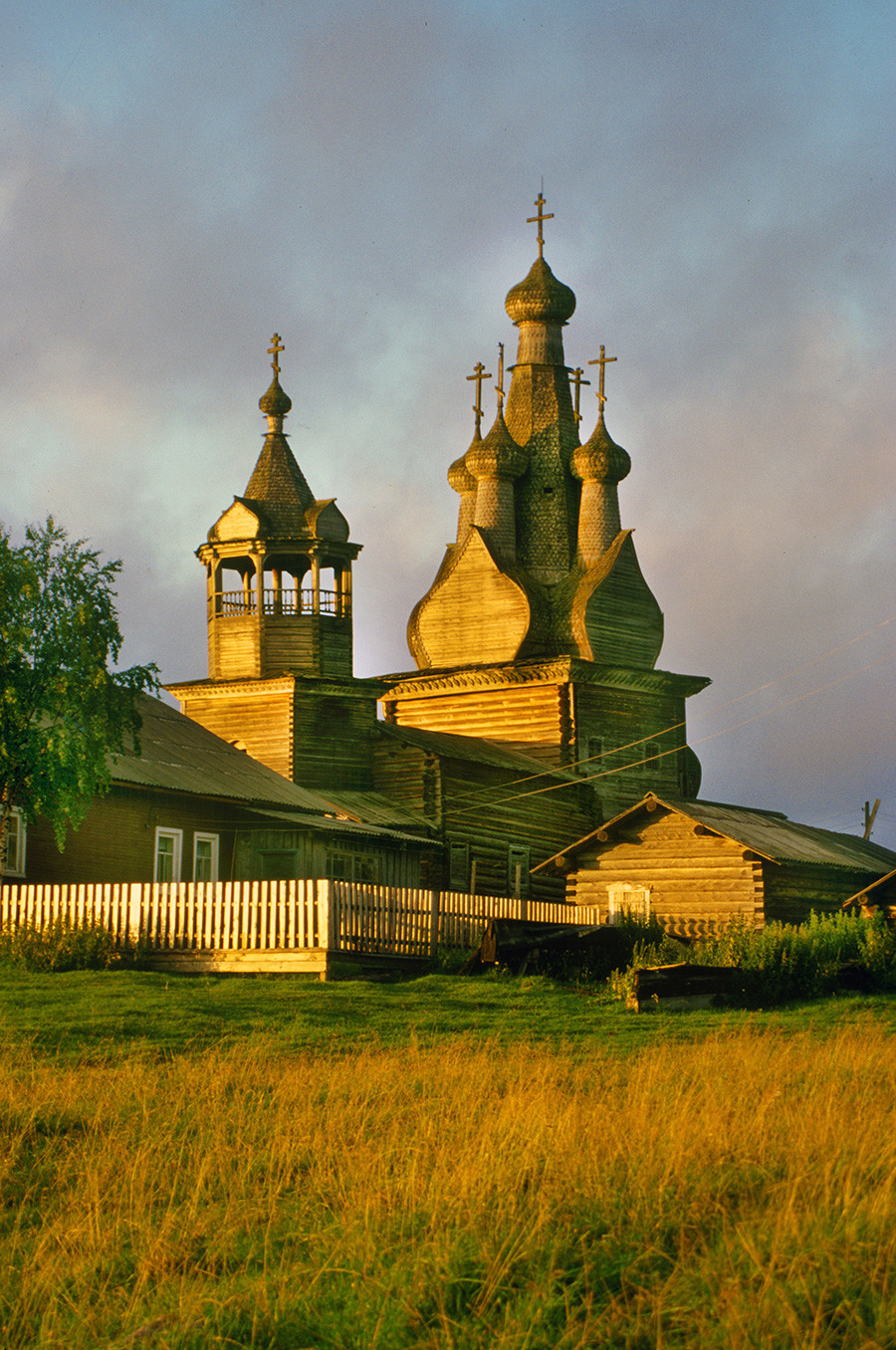 Church of the Hodegetria Icon, southwest view in late evening light. July 31, 2000