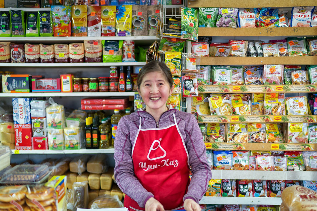Магазин в Якутии.