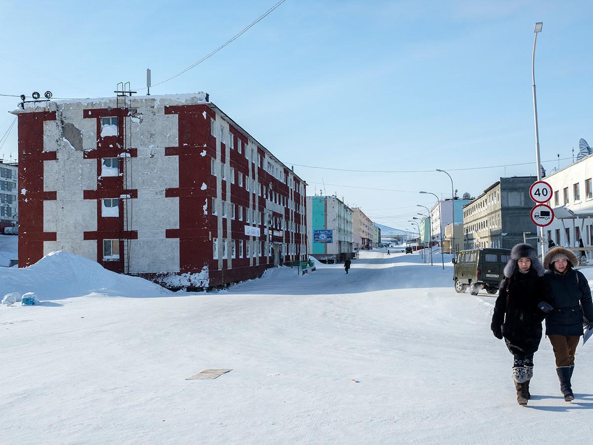 Отдаленный поселок Тикси в Якутии.