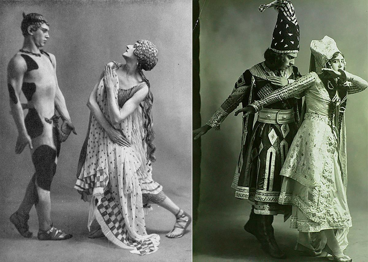 Nijinsky and Karsavina, 1912.