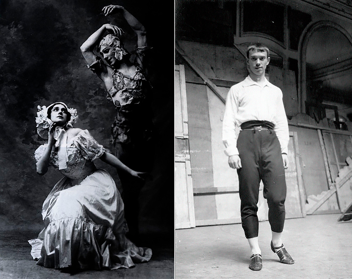 Left: Nijinsky and Karsavina in the first performance of