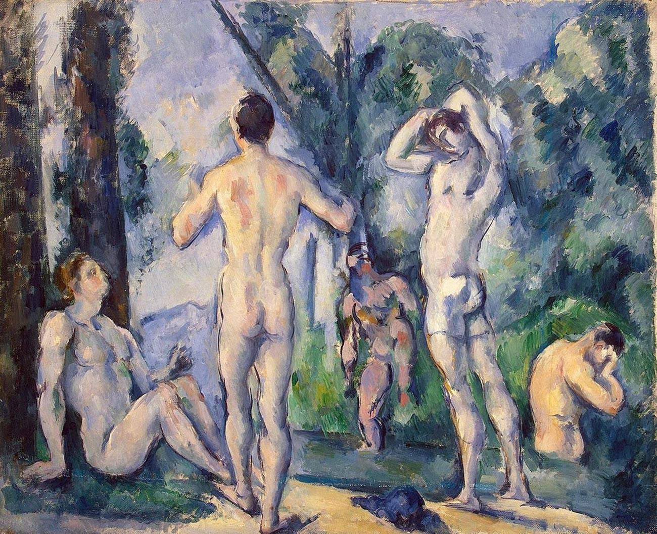 Paul Cezanne. Baigneuses