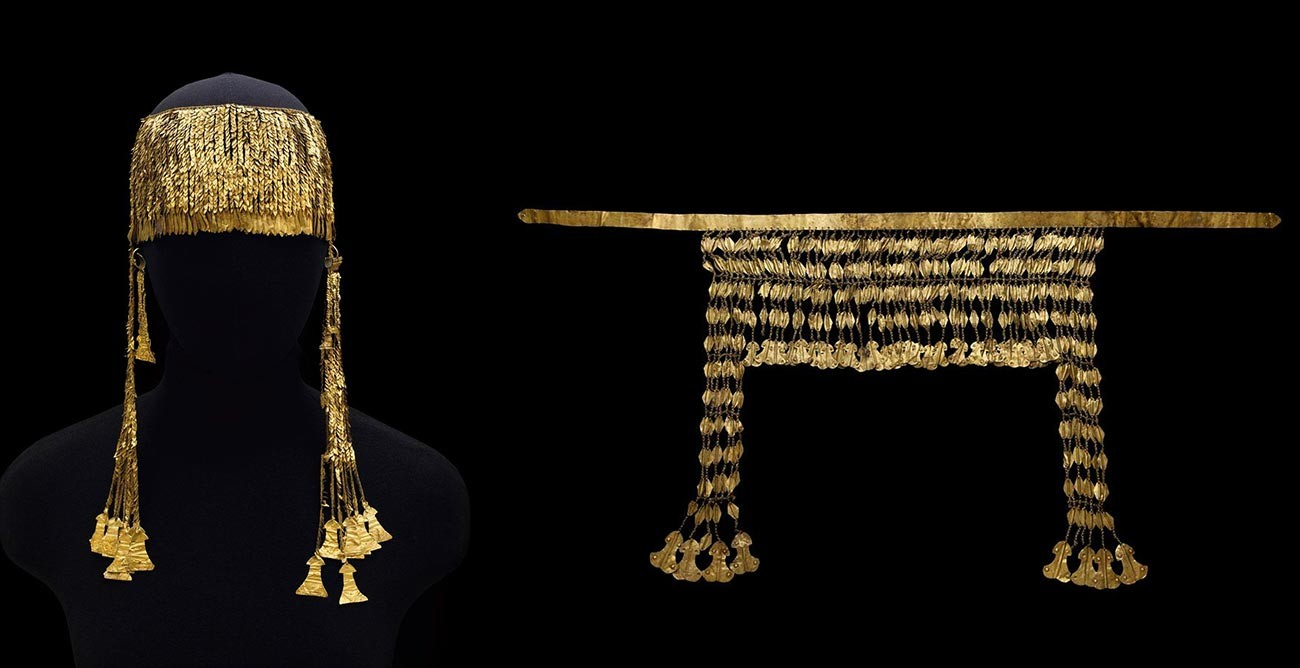 Diadems with idol-shaped pendants. 2600-2200 BC