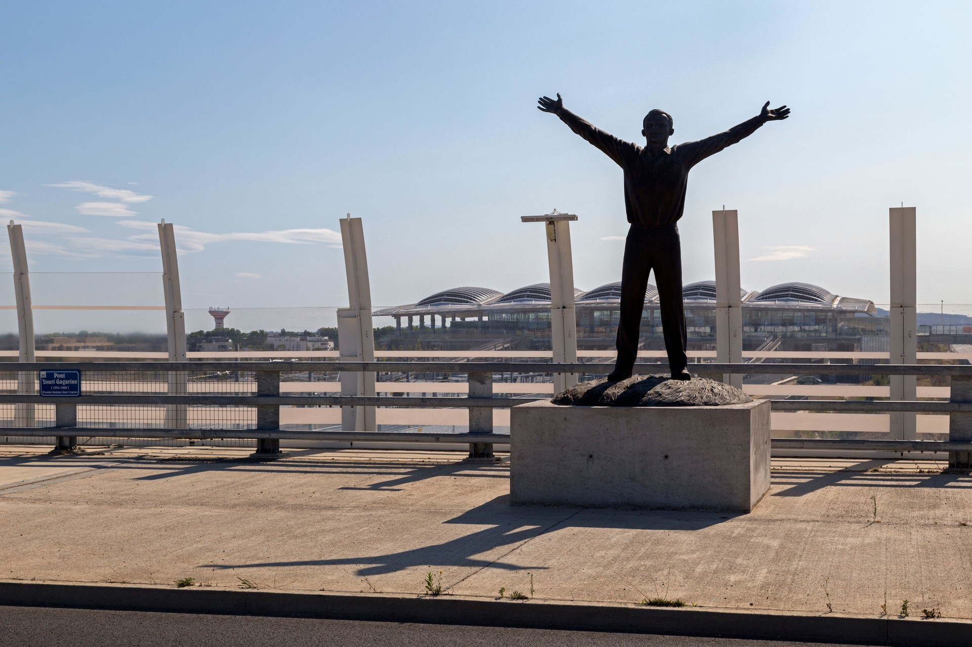 Sculpture de Gagarine dans la ville de Montpellier