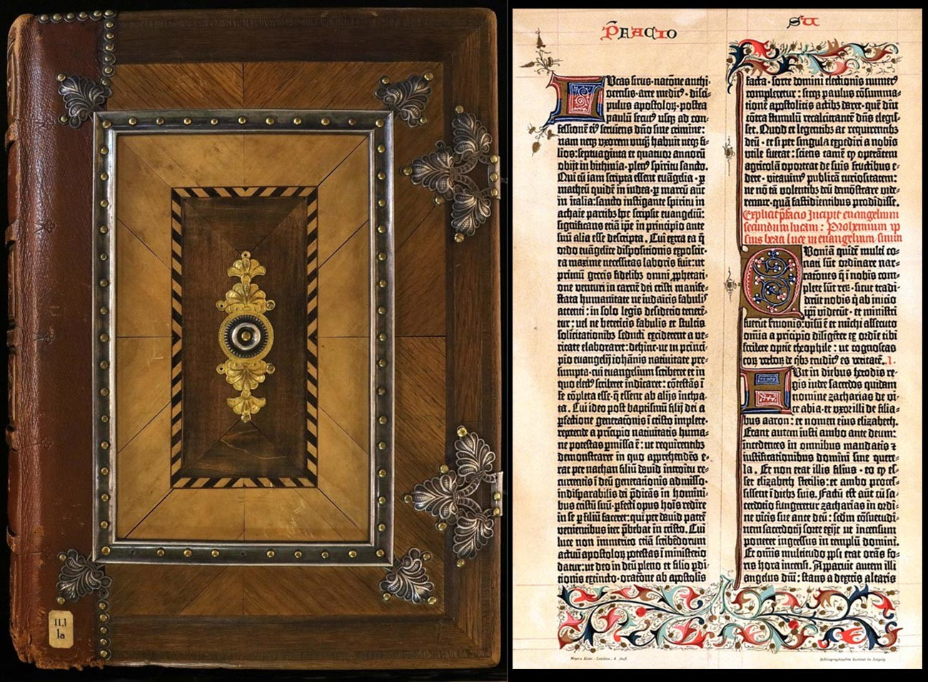 Una delle due Bibbie stampate da Johannes Gutenberg