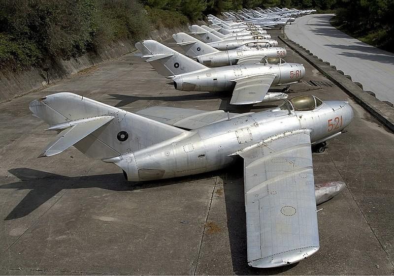 Mikoyan-Gurevich MiG-15bis de la Fuerza Aérea de Albania