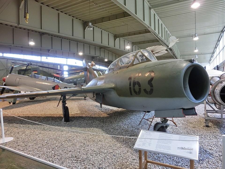 MiG-15 conservado en el Museo de la Luftwaffe de Berlín-Gatow.