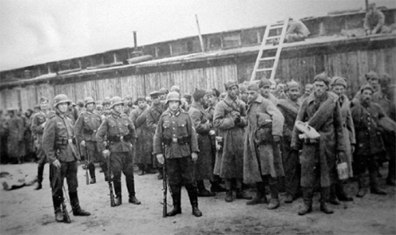 Sowjetische Kriegsgefangene in Norwegen.