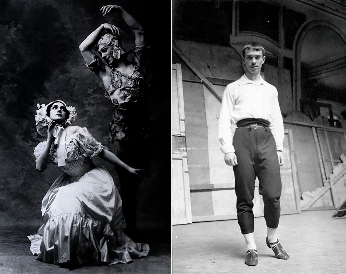 A sinistra, Nizhinskij e Karsavina nella prima rappresentazione di