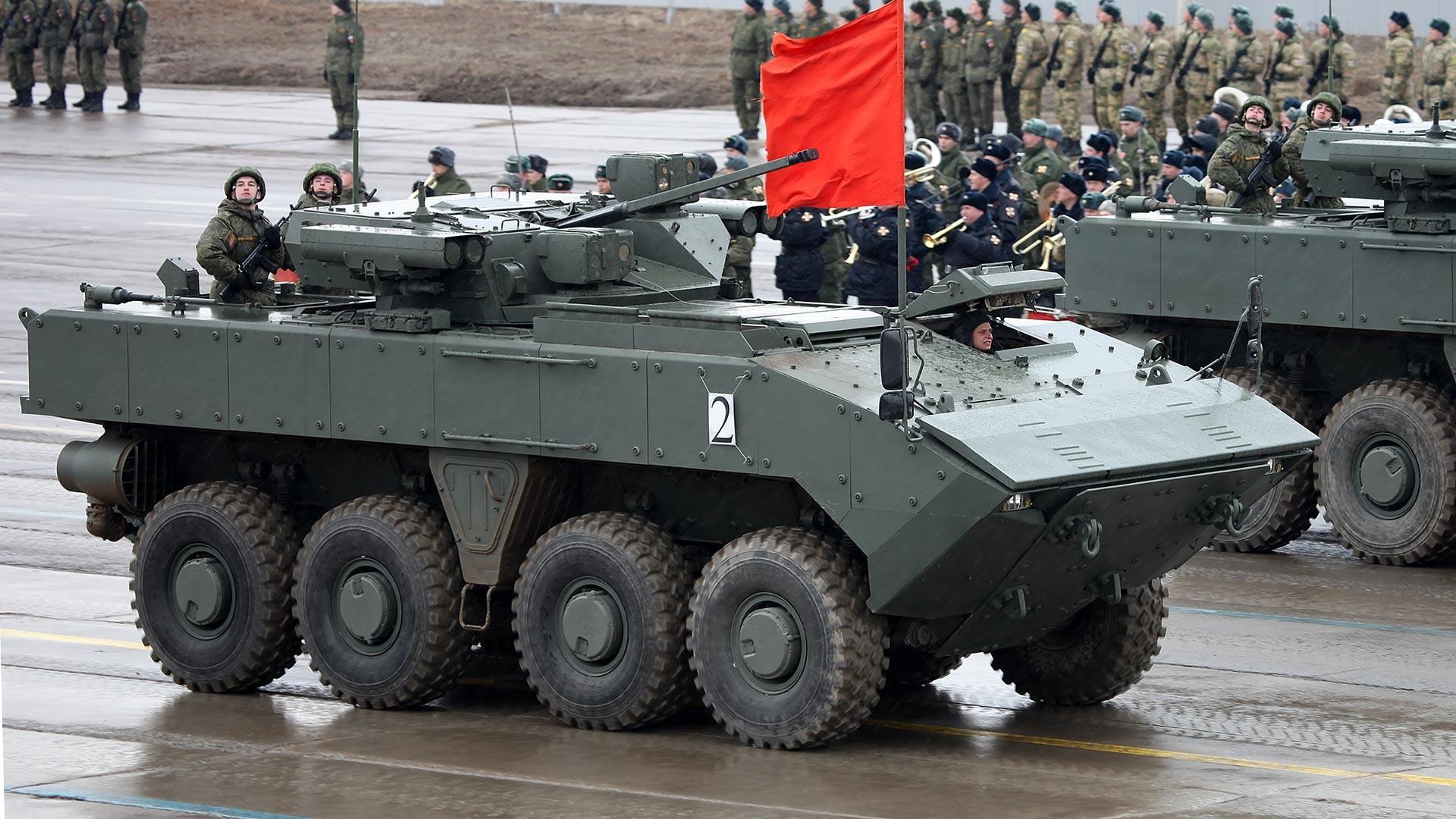 El vehículo blindado de transporte de personal Boomerang