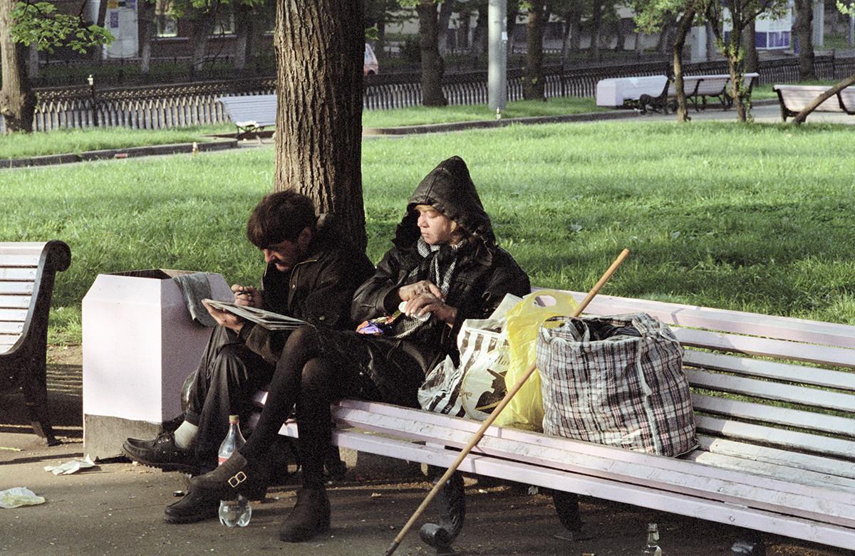 Un couple de sans-abri