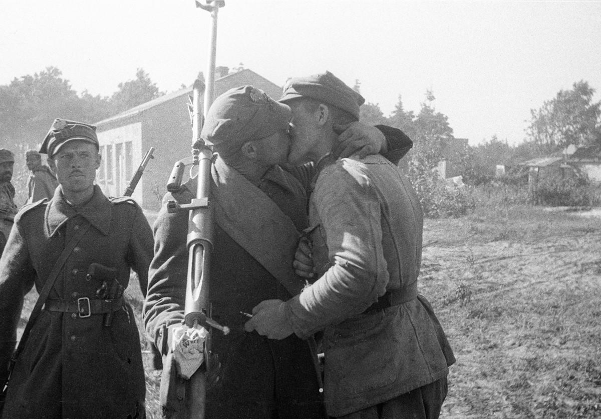 ワルシャワ近郊でのポーランド軍部隊の合流