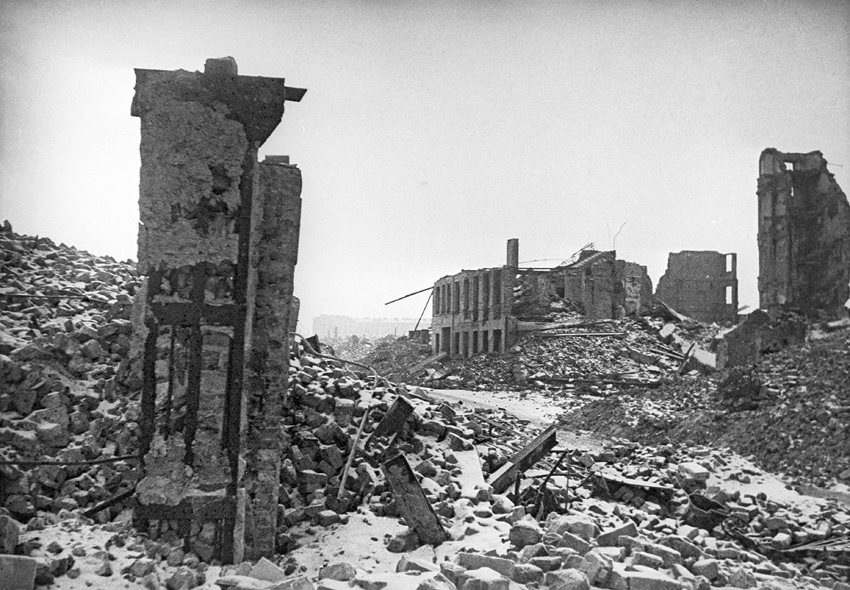 ワルシャワのユダヤ人ゲットーの廃墟