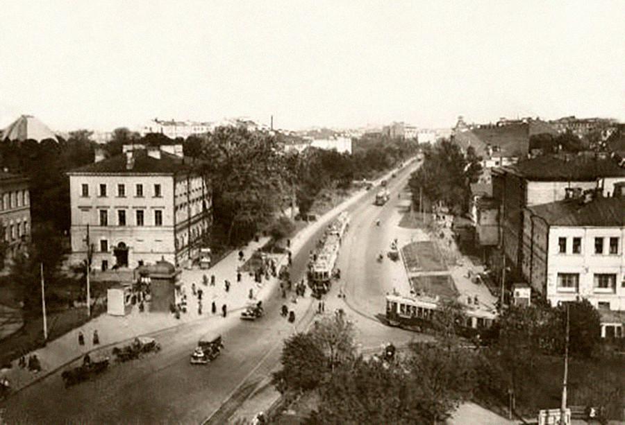 Sadovaja-Kudrinskaja, Vrtni obroč (Sadovoje kolco), Moskva, 1928