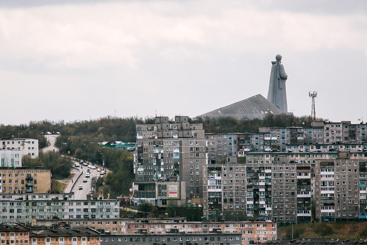 Ein Stadtteil in Murmansk.