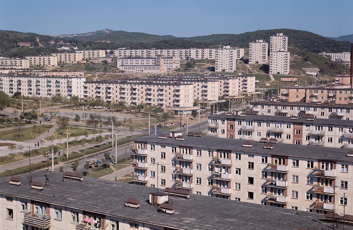 Ein Wohngebiet in Wladiwostok.