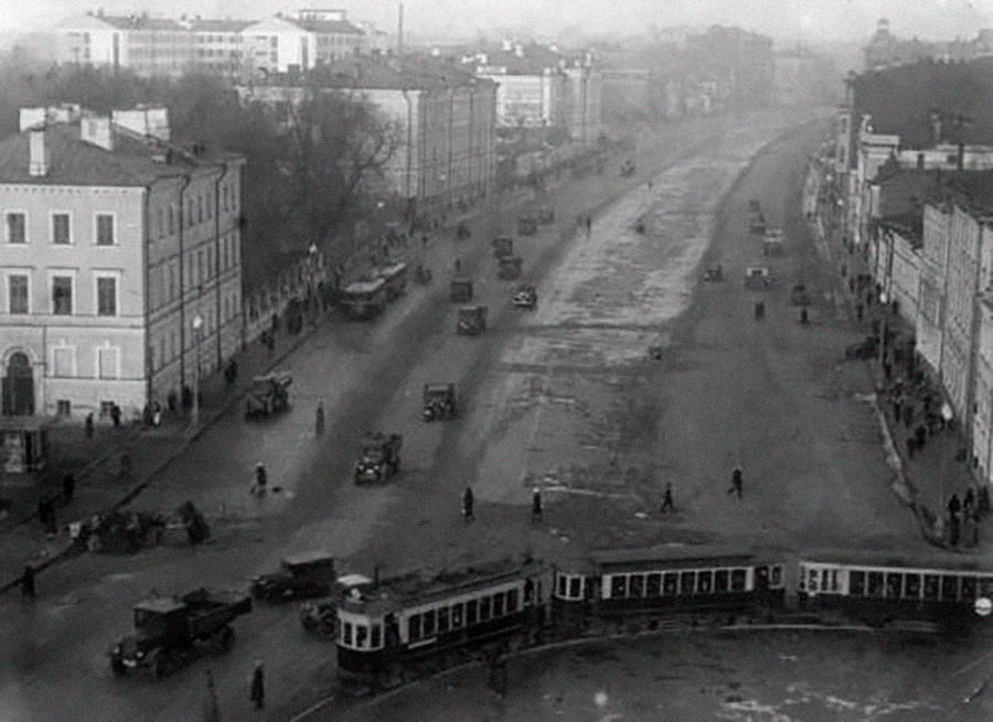 Sadovaya-Kudrinskaya, el anillo de Sadóvoie, Moscow, 1936