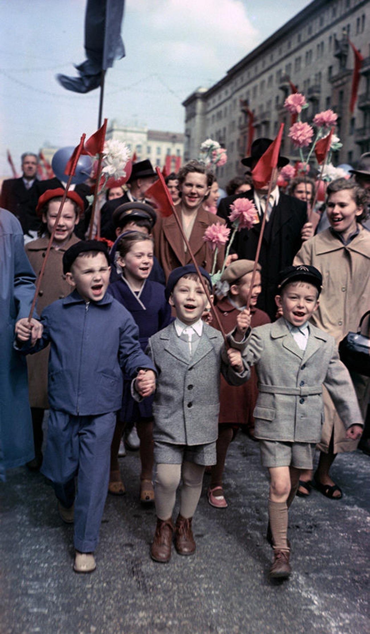 モスクワでのデモ、1960年