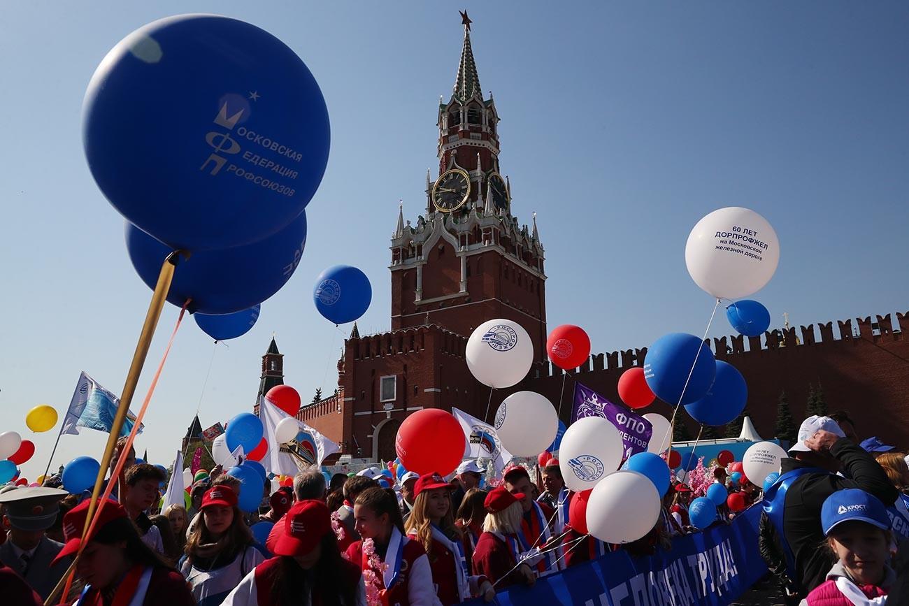 モスクワでの5月1日のデモ、2019年