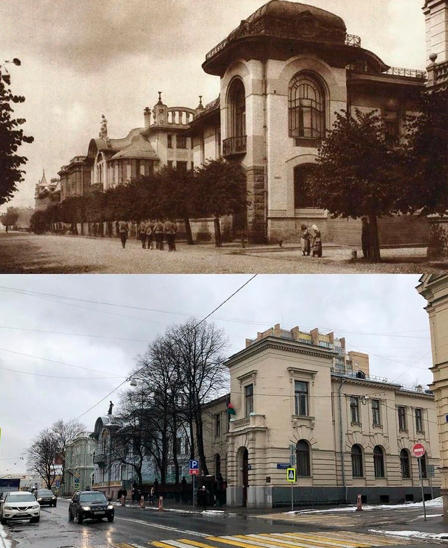 アールヌーボー様式が時代遅れになり、1910年代に新しい所有者が装飾を変えた