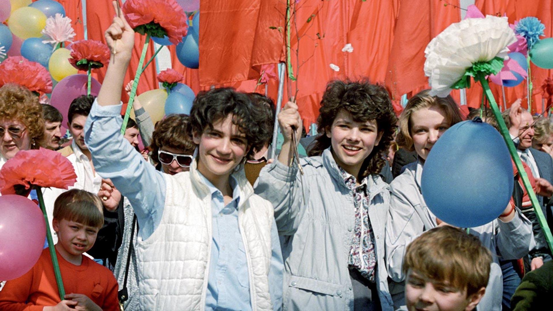 «День международной солидарности трудящихся» в Москве, 1987