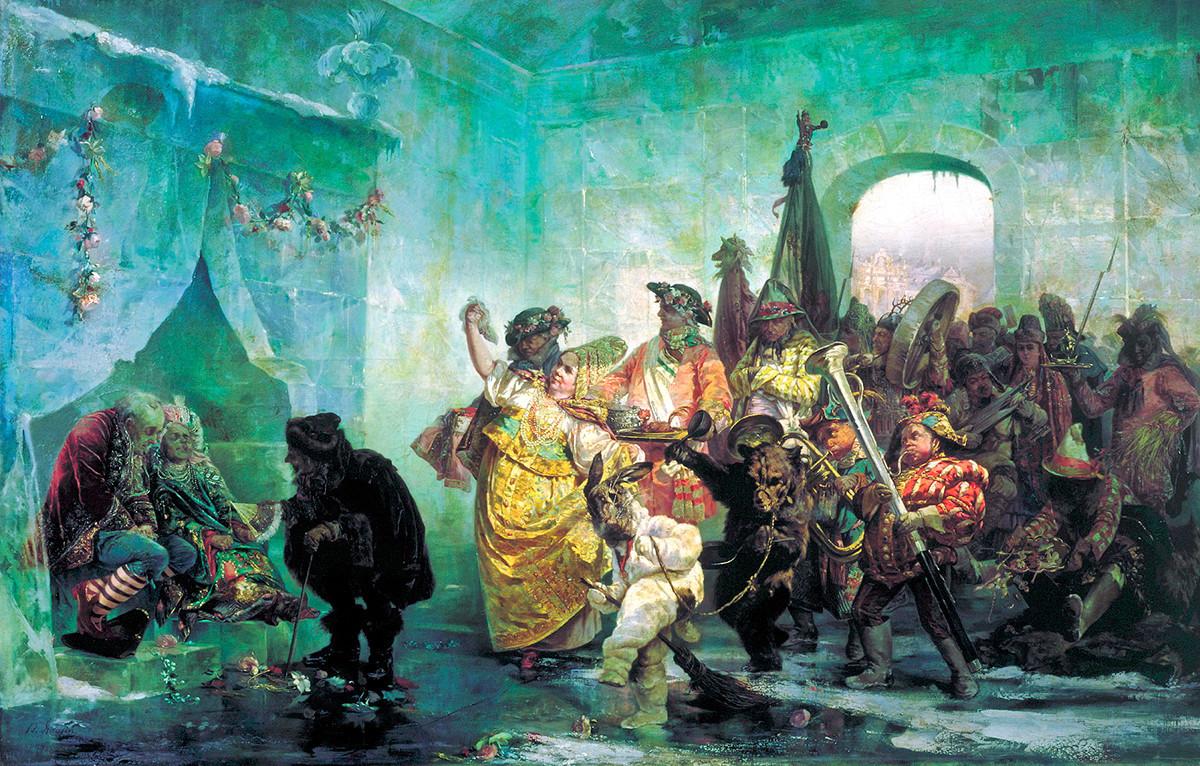 """""""Свадба во Ледената палата"""", Валериј Јакоби, 1878 година"""