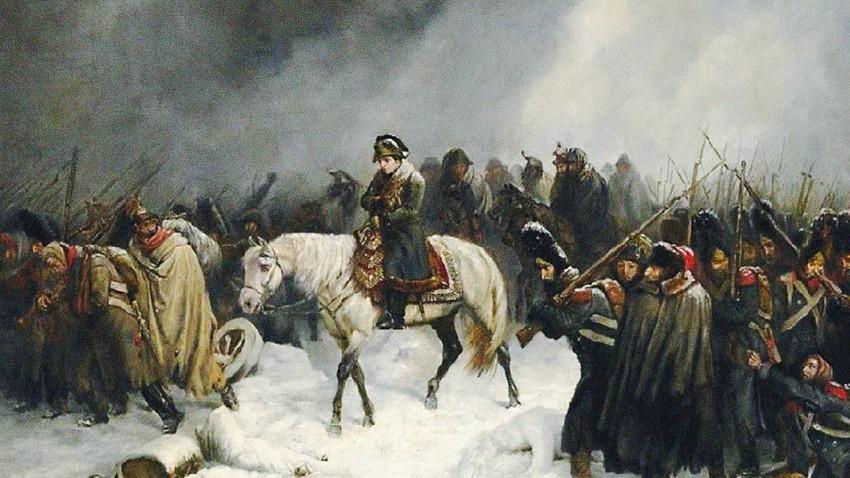 La retirada de Napoleón de Rusia.