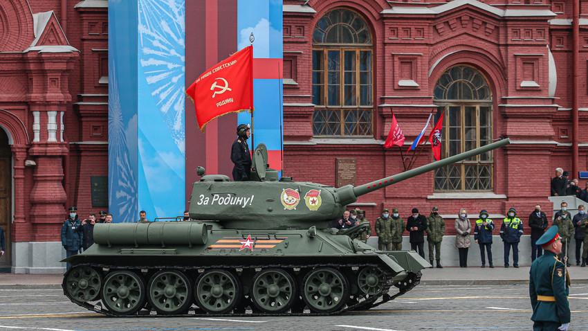 Parada zmage v Moskvi 2021