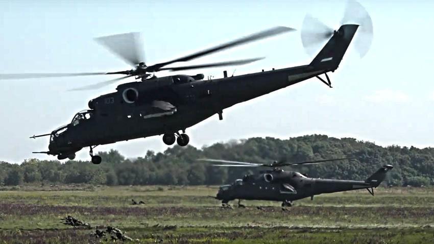 Десантно-јуришни хеликоптери Ми-35М од составот на Војската на Србија