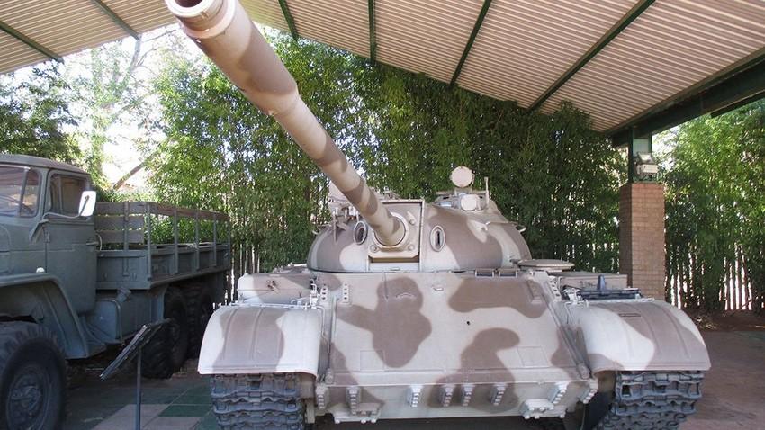 El tanque T-55 en el Museo Nacional de Historia Militar de Sudáfrica, en Johannesburgo.