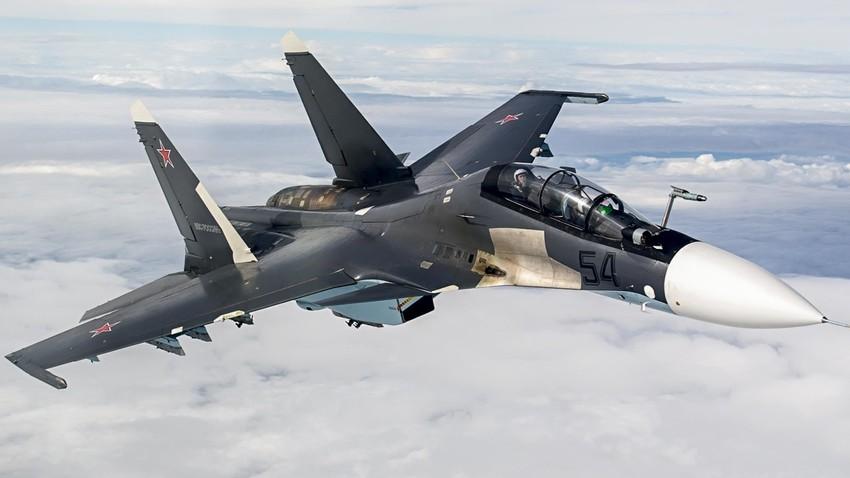 Jet tempur Sukhoi Su-30SM Pasukan Kedirgantaraan Rusia