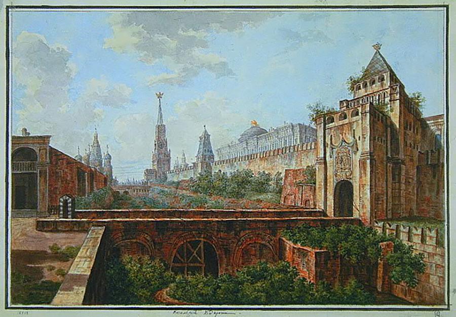 アロイシオスの谷とモスクワのクレムリン、1800年代