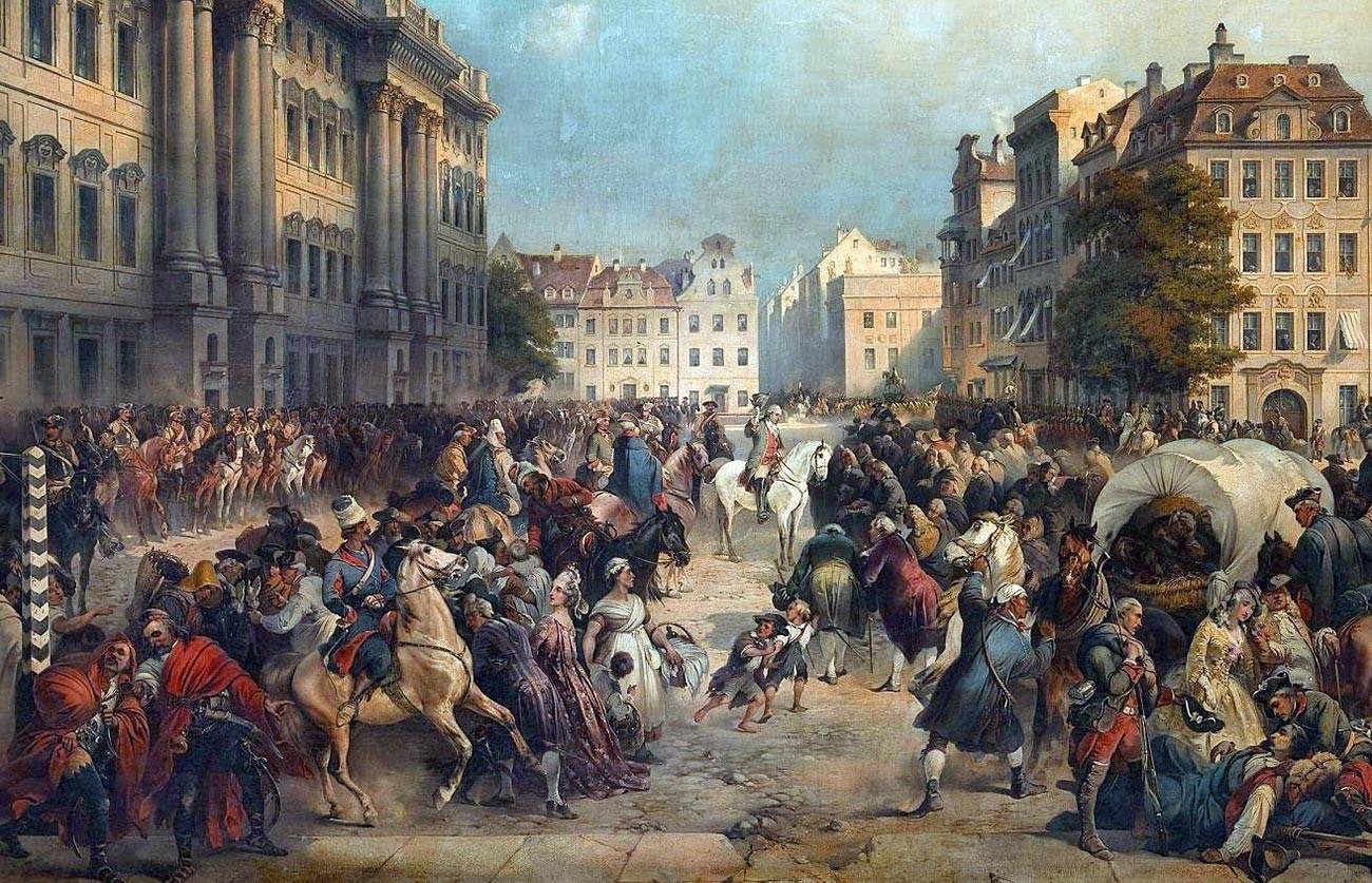 Forces alliées de l'Autriche et de la Russie à Berlin