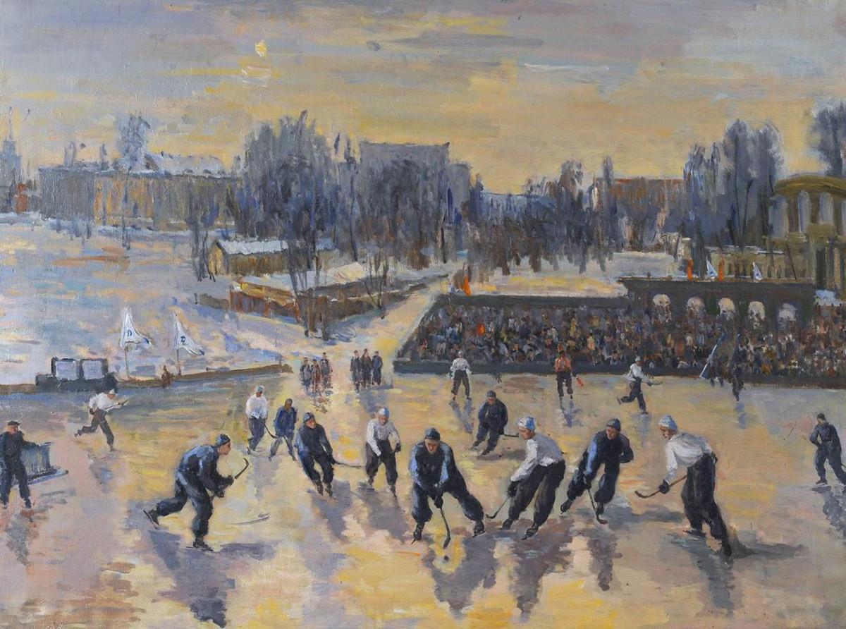Виктор Мидлер. Хоккей на стадионе «Динамо», 1948