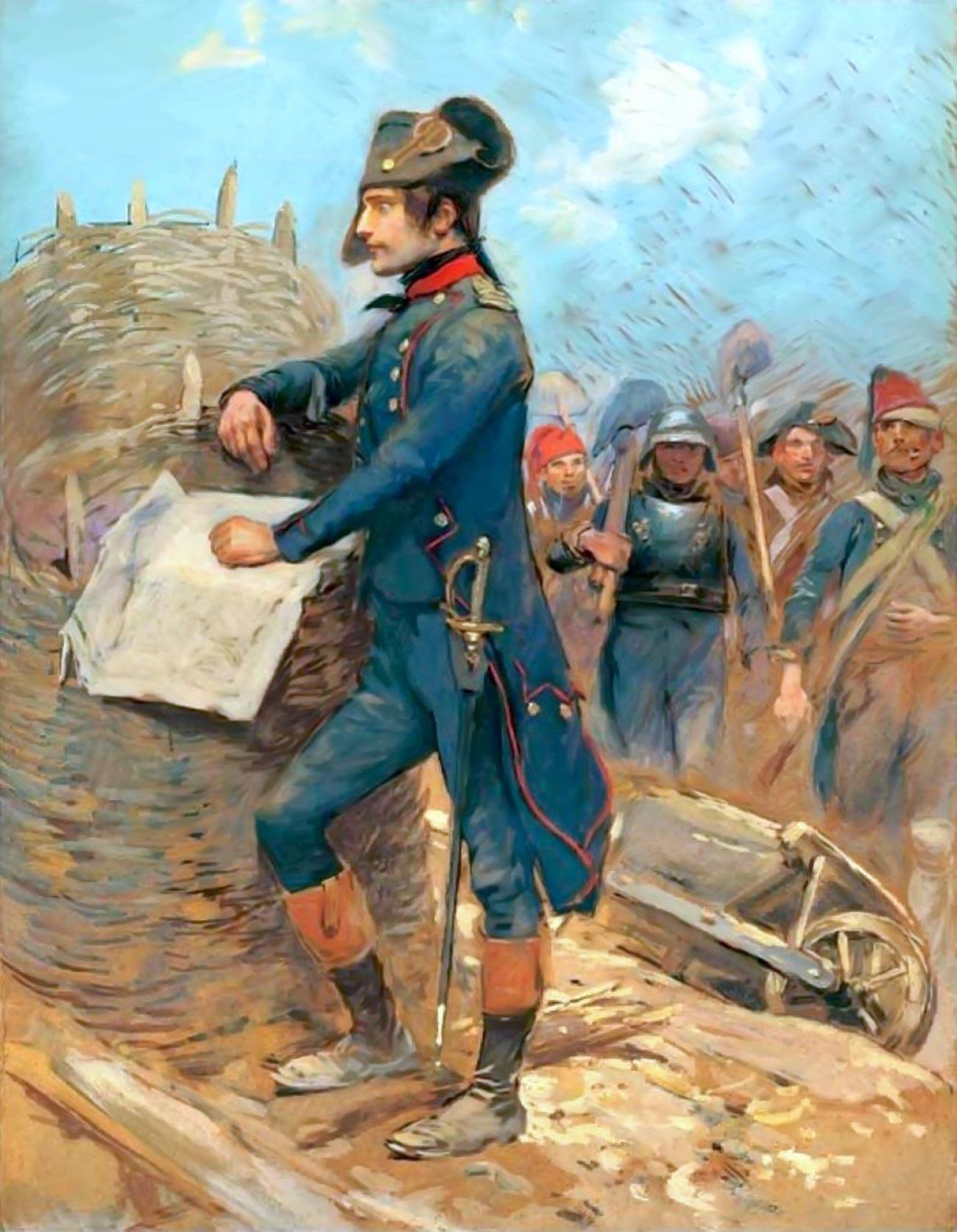 Bonaparte au siège de Toulon, 1793, toile d'Édouard Detaille, Musée de l'armée