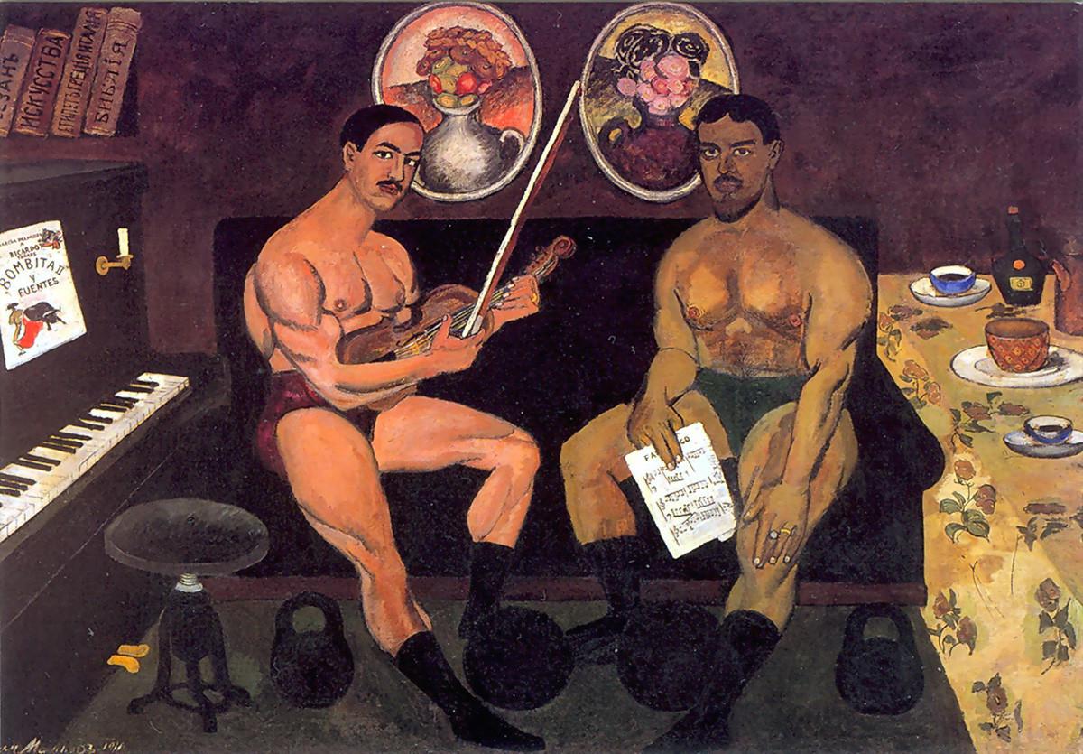 Ilya Mashkov. Self-Portrait with Pyotr Konchalovsky