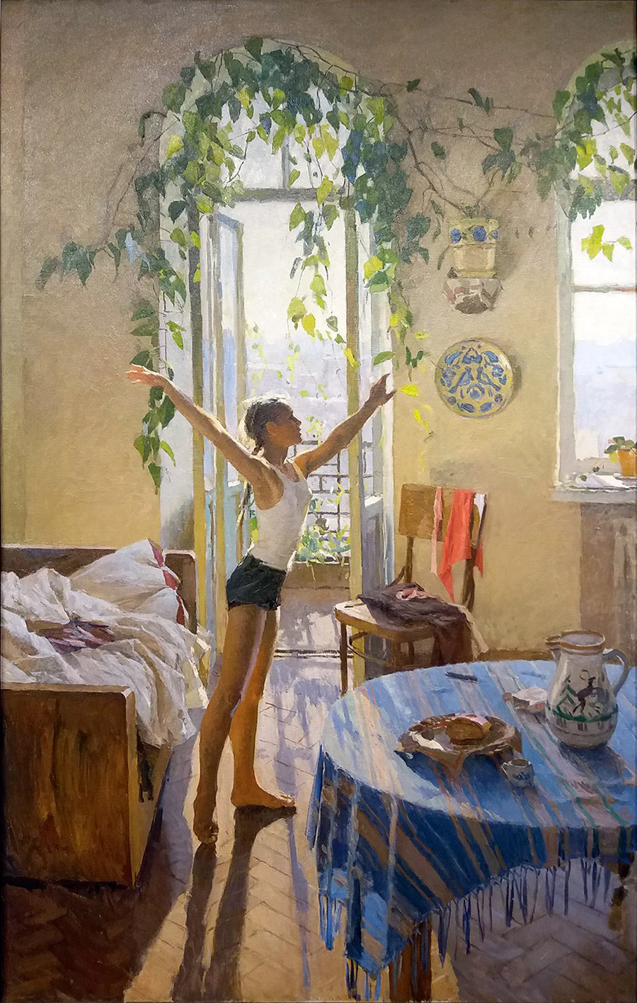 Tatyana Yablonskaya. Morning, 1954