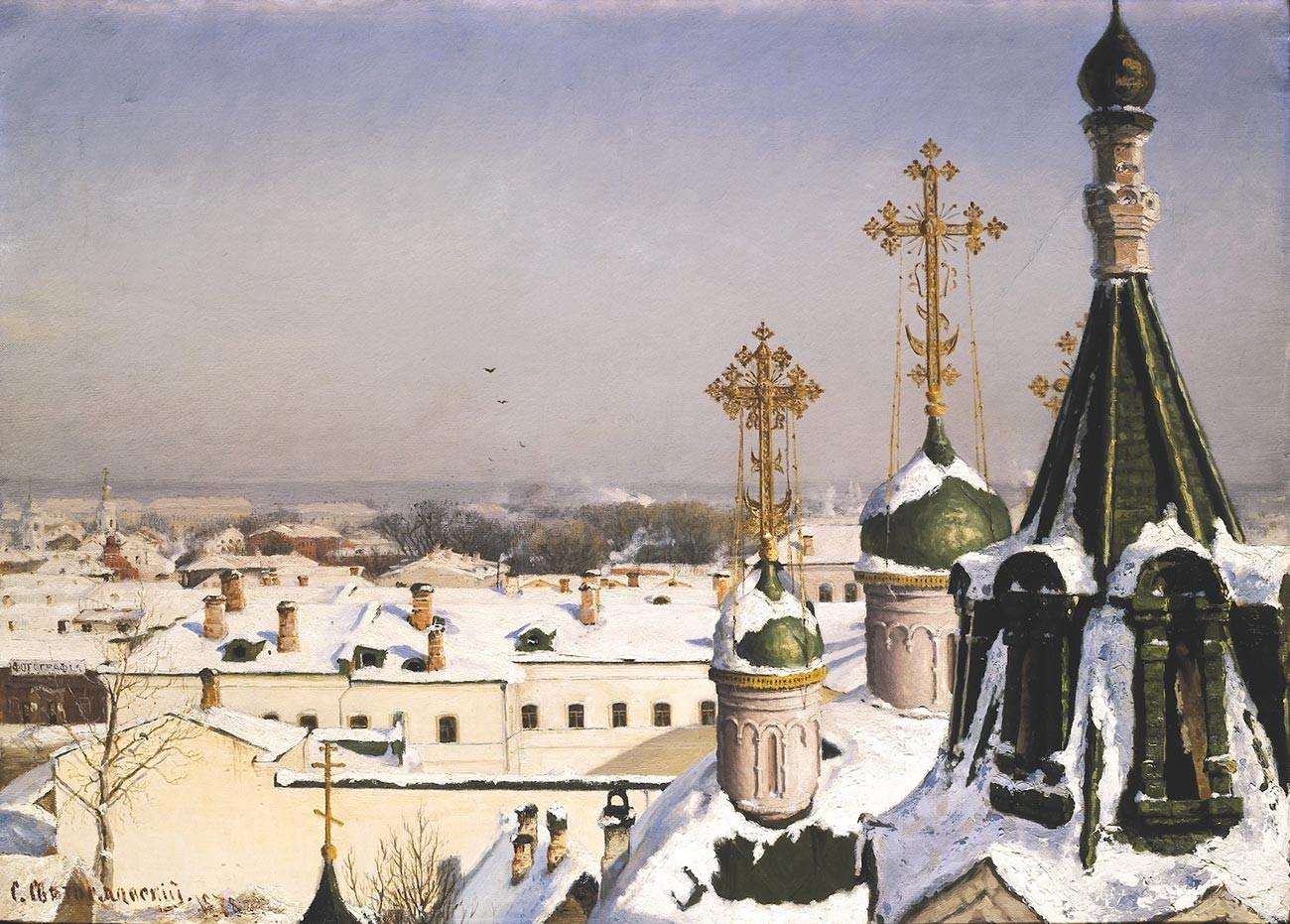 モスクワ絵画学校の窓からの景色、1878年