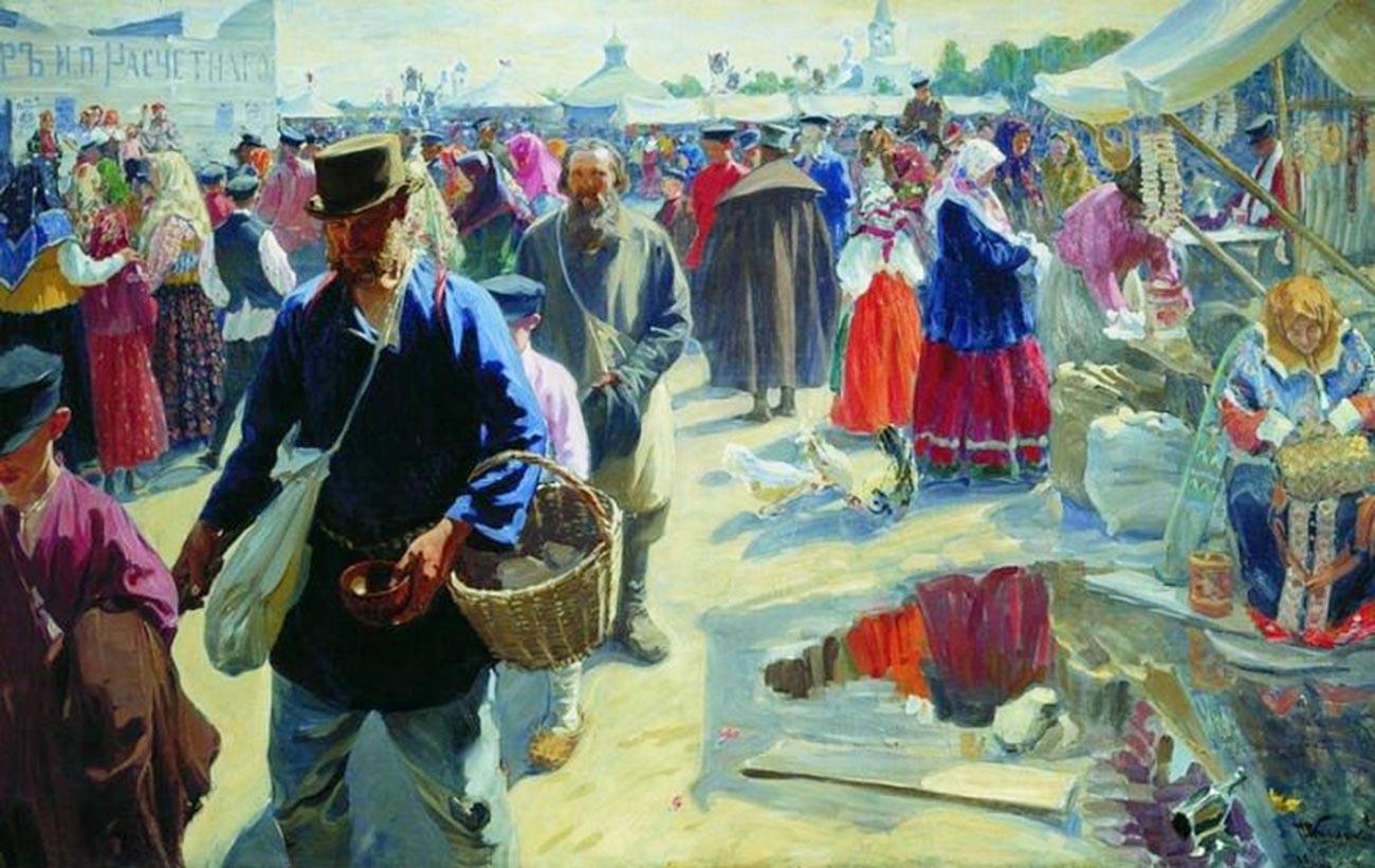 ムーロムの市場、1910〜1912年